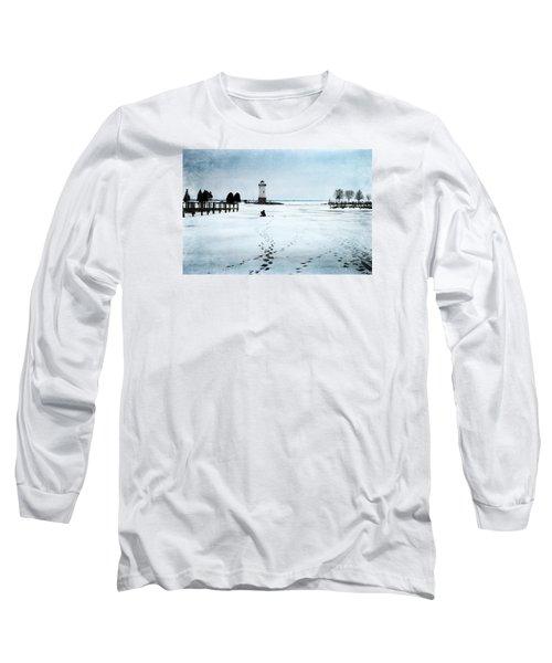 Ice Fishing Solitude 2 Long Sleeve T-Shirt