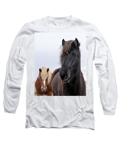 Iceland Horses Long Sleeve T-Shirt by Mike Santis