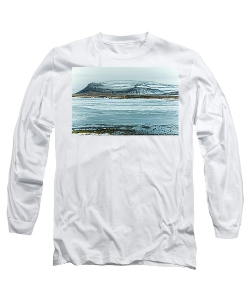 Icelandic Winter Landscape Long Sleeve T-Shirt by Mike Santis