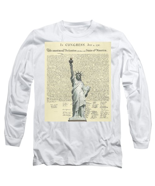 Icon Of Freedom Long Sleeve T-Shirt by Charles Beeler
