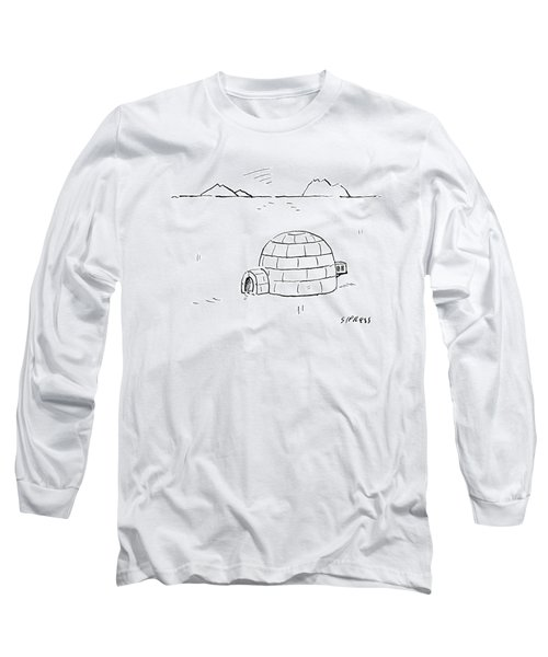 Igloo With Air Conditing Unit Long Sleeve T-Shirt