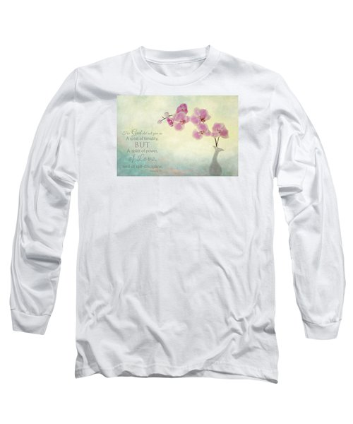 Ikebana With Message Long Sleeve T-Shirt