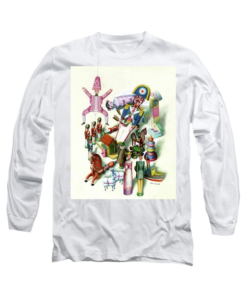 Illustration Of A Group Of Children's Toys Long Sleeve T-Shirt