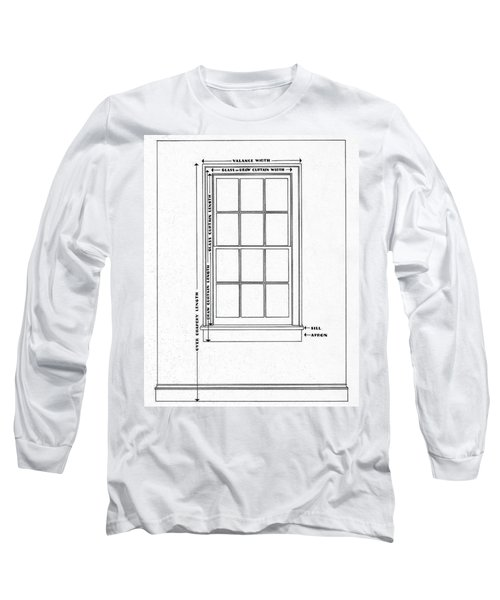Illustration Of A Window Long Sleeve T-Shirt