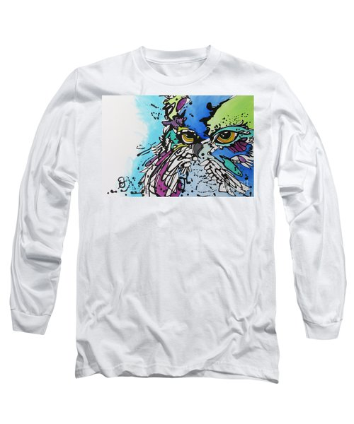 Long Sleeve T-Shirt featuring the painting Immutable by Nicole Gaitan