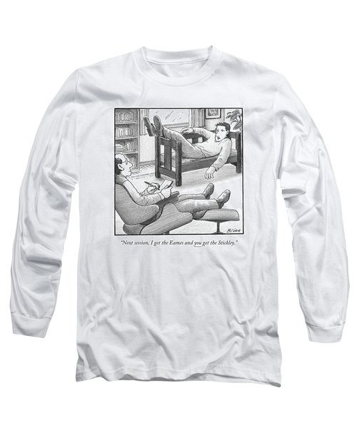 In A Therapist's Office Long Sleeve T-Shirt