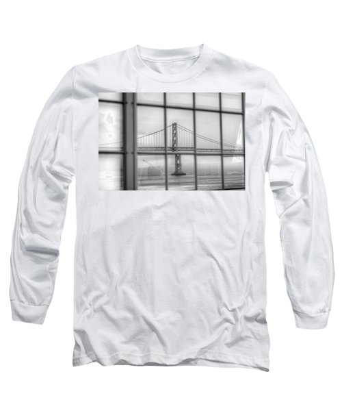 in a window the Bay Bridge Long Sleeve T-Shirt