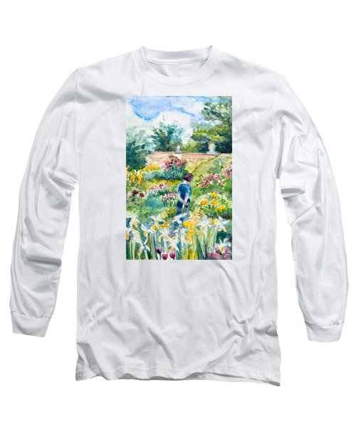 In An English Cottage Garden Long Sleeve T-Shirt