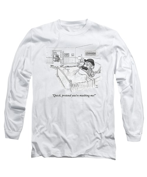 In Bed With A Human Woman Long Sleeve T-Shirt