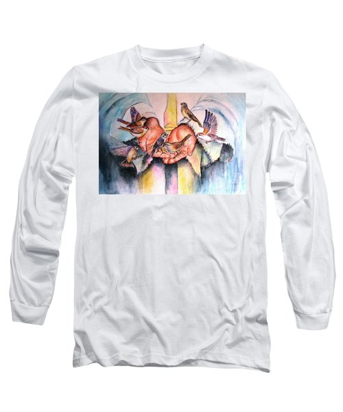 In His Hands Long Sleeve T-Shirt