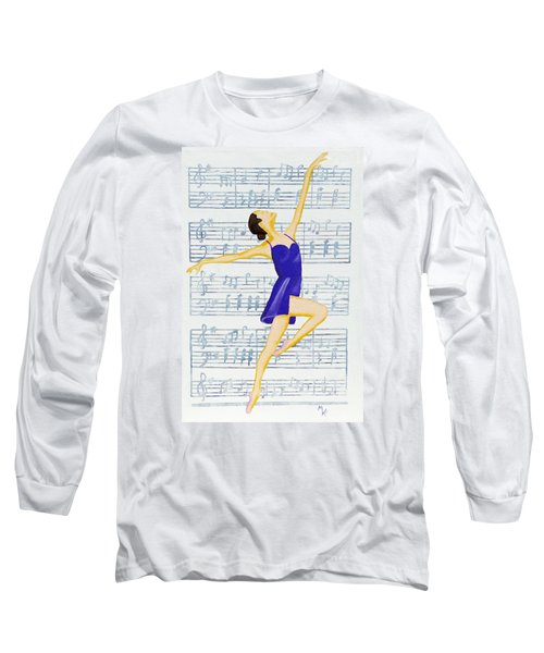 In Sync With The Music Long Sleeve T-Shirt by Margaret Harmon