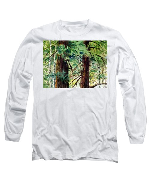 Long Sleeve T-Shirt featuring the painting In The Canopy by Donald Maier