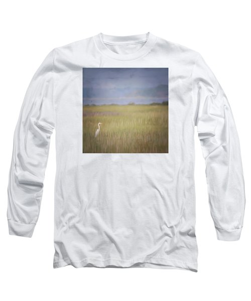 In The Marsh  Long Sleeve T-Shirt by Kerri Farley