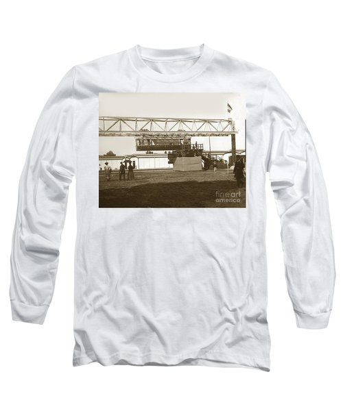 Long Sleeve T-Shirt featuring the photograph Incredible Hanging Railway  1900 by California Views Mr Pat Hathaway Archives