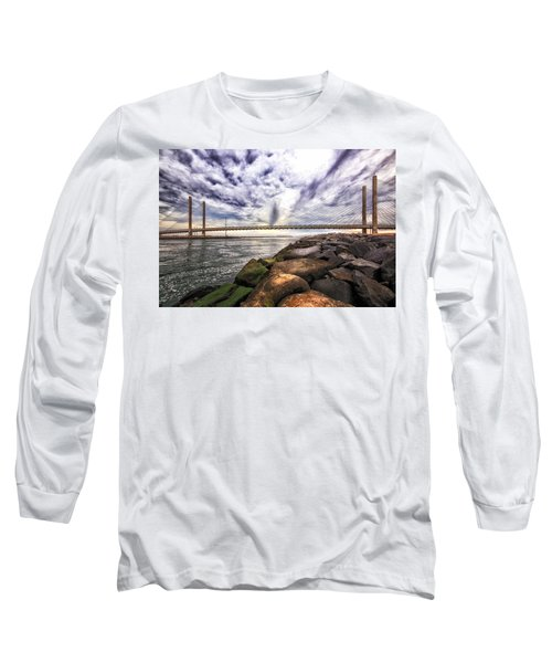 Indian River Bridge Clouds Long Sleeve T-Shirt