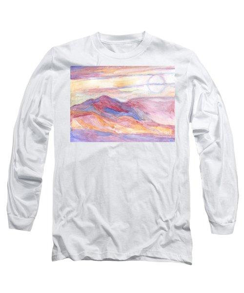 Indian Summer Sky Long Sleeve T-Shirt by Roz Abellera Art