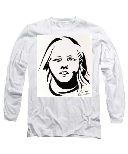Ink Portrait Long Sleeve T-Shirt by Samantha Geernaert