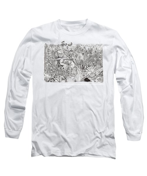Inky Orchid Pond Long Sleeve T-Shirt
