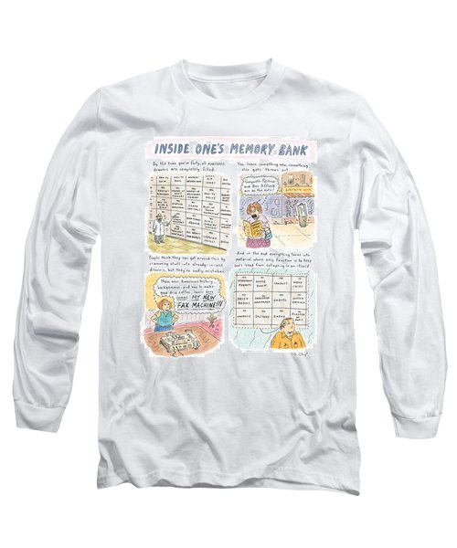 'inside One's Memory Bank' Long Sleeve T-Shirt