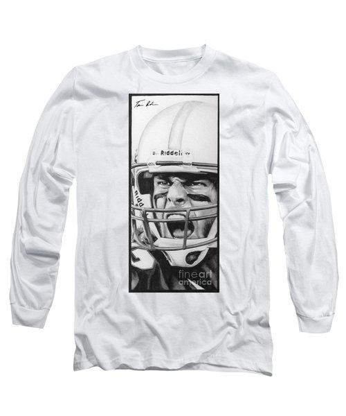 Intensity Tom Brady Long Sleeve T-Shirt by Tamir Barkan