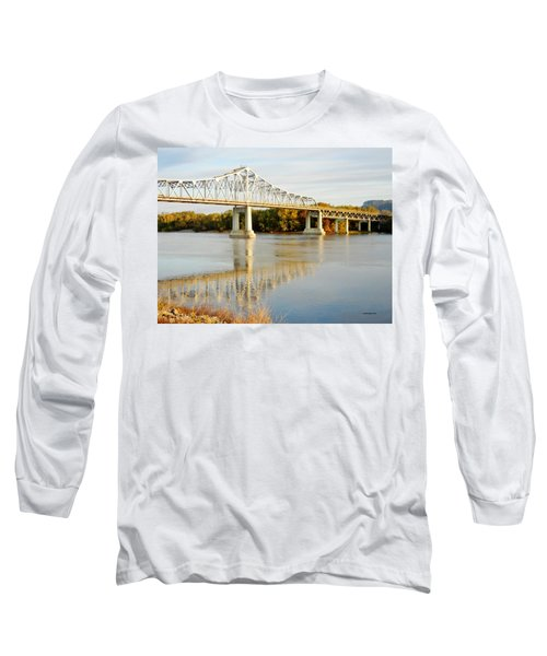Interstate Bridge In Winona Long Sleeve T-Shirt