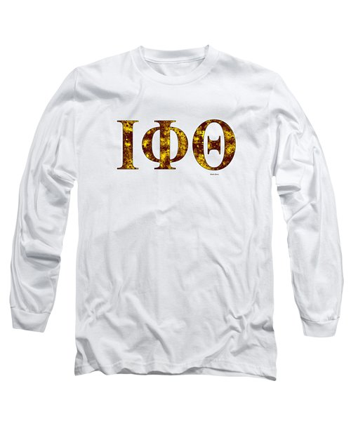 Iota Phi Theta - White Long Sleeve T-Shirt by Stephen Younts