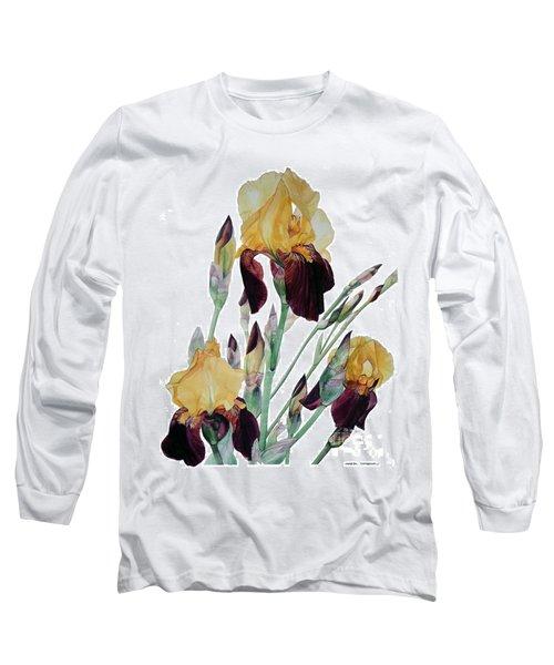 Iris Beethoven Romance In Fa Major Long Sleeve T-Shirt by Greta Corens