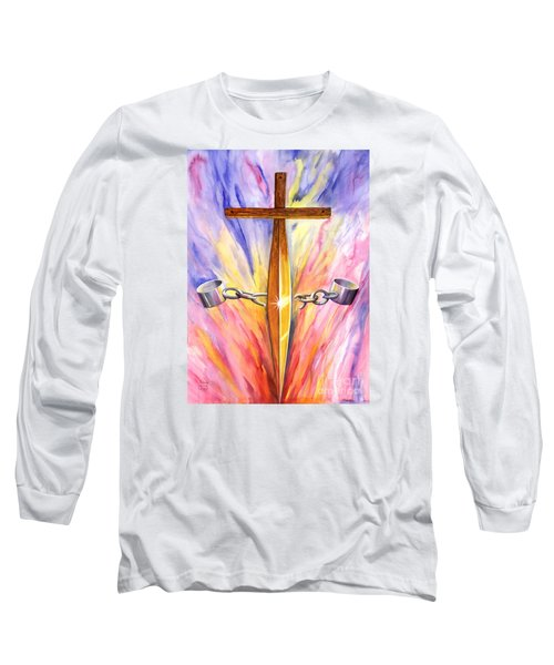 Isaiah Sixty One Verse One Long Sleeve T-Shirt by Nancy Cupp