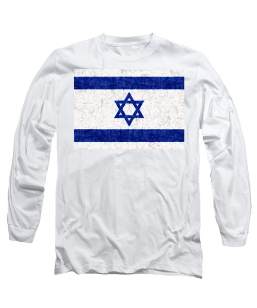 Israel Star Of David Flag Batik Long Sleeve T-Shirt