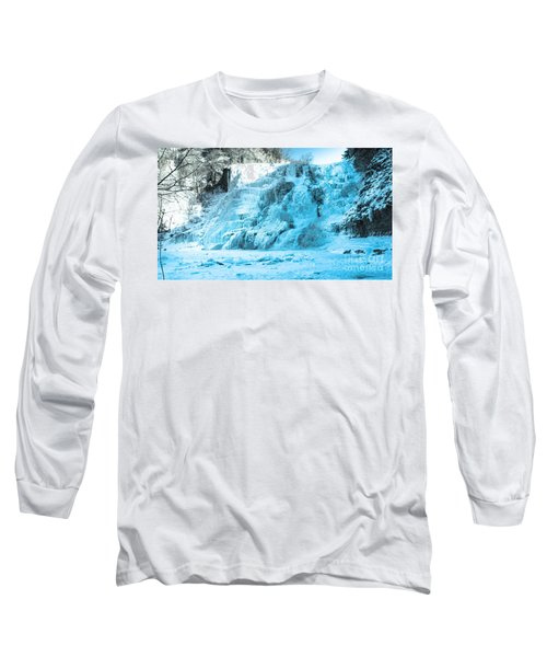 Ithaca Falls In Winter Long Sleeve T-Shirt