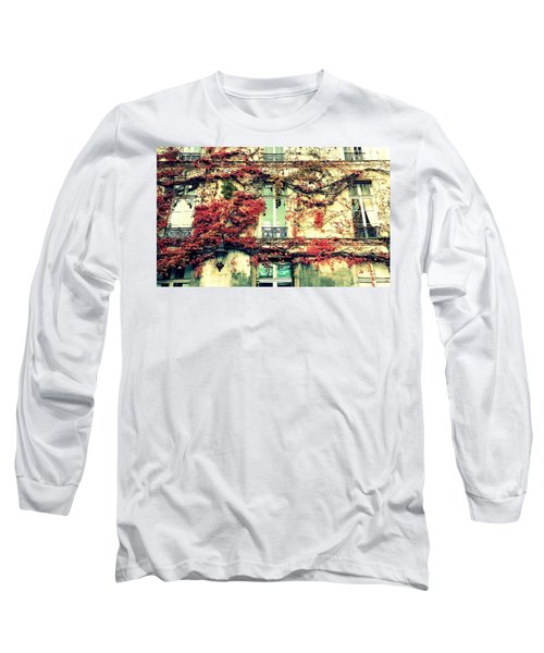 Ivy Growing On A Wall   Long Sleeve T-Shirt by Richard Rosenshein