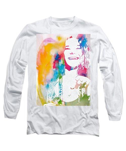 Janis Joplin Watercolor Long Sleeve T-Shirt