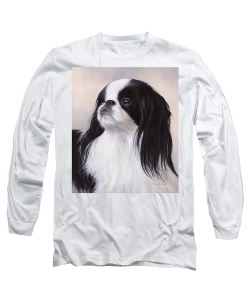 Japanese Chin Painting Long Sleeve T-Shirt