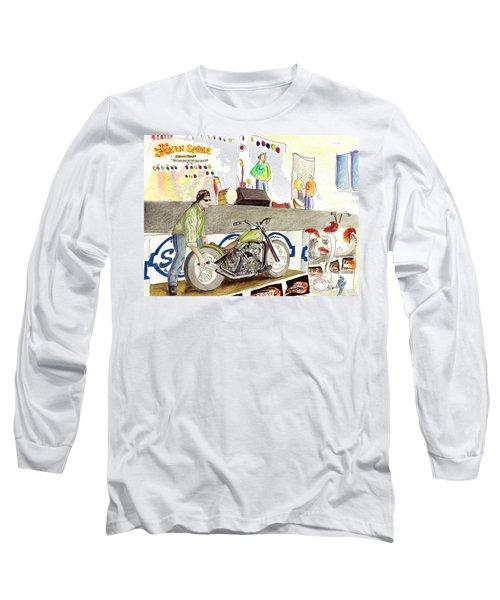 Jay Allen At The Broken Spoke Saloon Long Sleeve T-Shirt by Albert Puskaric