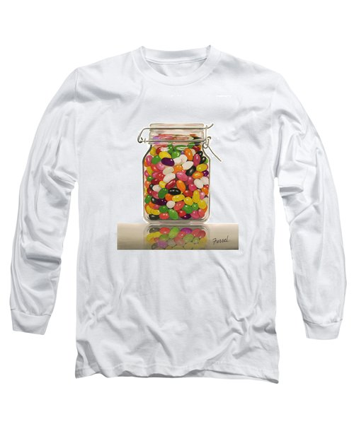 Long Sleeve T-Shirt featuring the painting Jelly Beans by Ferrel Cordle
