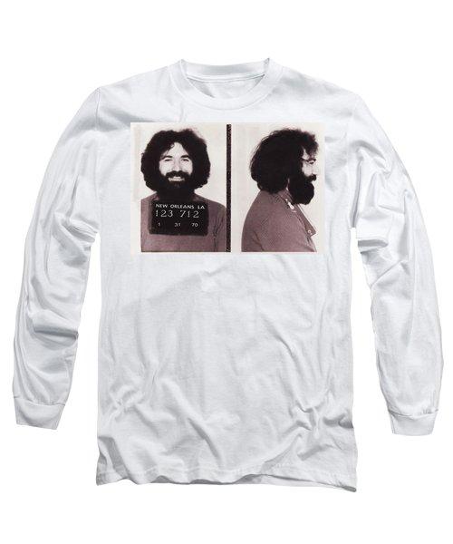Jerry Garcia Mugshot Long Sleeve T-Shirt