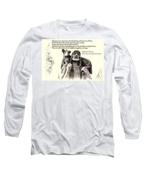 Jesus And Lamb Long Sleeve T-Shirt