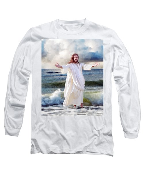 Jesus On The Sea Long Sleeve T-Shirt by Francesa Miller
