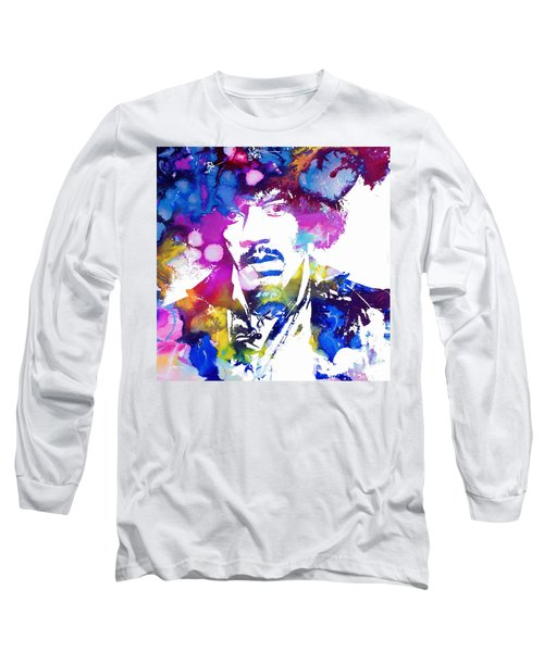 Jimi Hendrix - Psychedelic Long Sleeve T-Shirt by Doc Braham