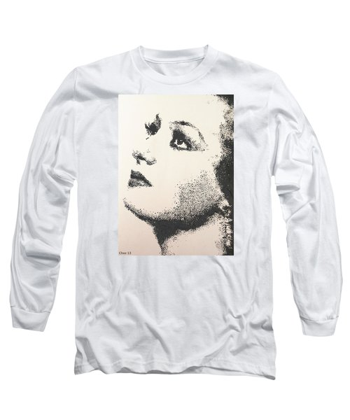 Joan Crawford Long Sleeve T-Shirt by Cherise Foster