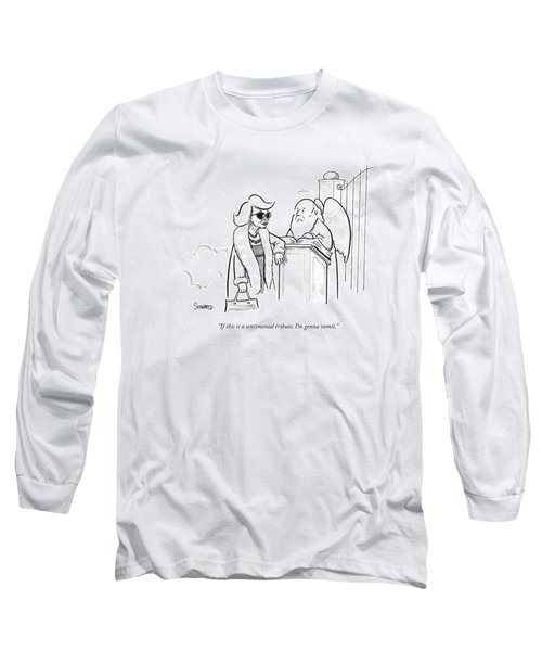 Joan Rivers At The Gates Of Heaven Long Sleeve T-Shirt