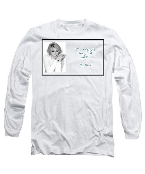 Joan Rivers Long Sleeve T-Shirt by Maciek Froncisz