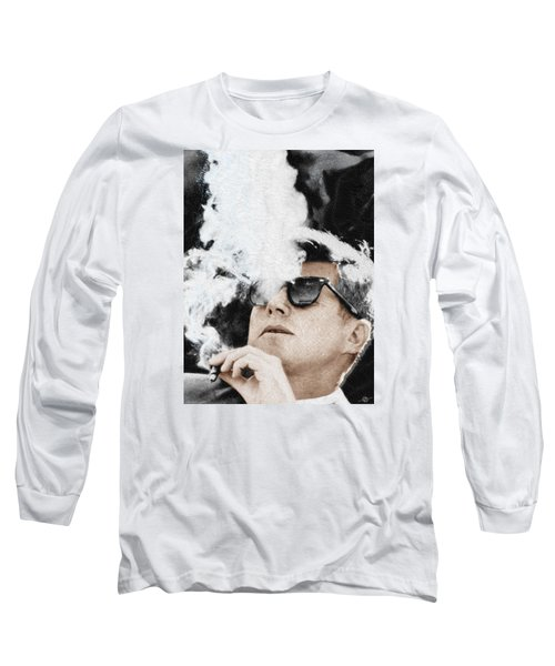 John F Kennedy Cigar And Sunglasses Long Sleeve T-Shirt