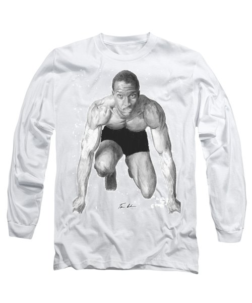 Long Sleeve T-Shirt featuring the drawing Johnson by Tamir Barkan