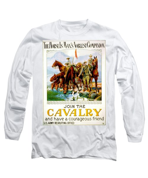 Join The Cavalry 1920 Long Sleeve T-Shirt by Padre Art
