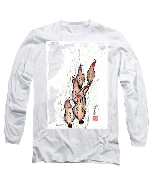Long Sleeve T-Shirt featuring the painting Joyful Excursion by Bill Searle