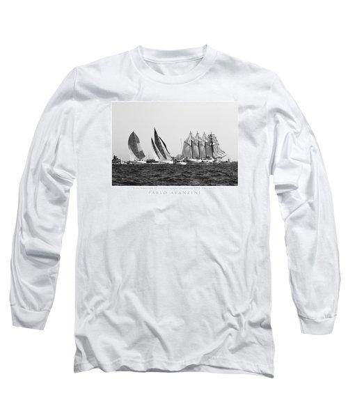 Juan Sebastian Elcano Departing The Port Of Cadiz Long Sleeve T-Shirt