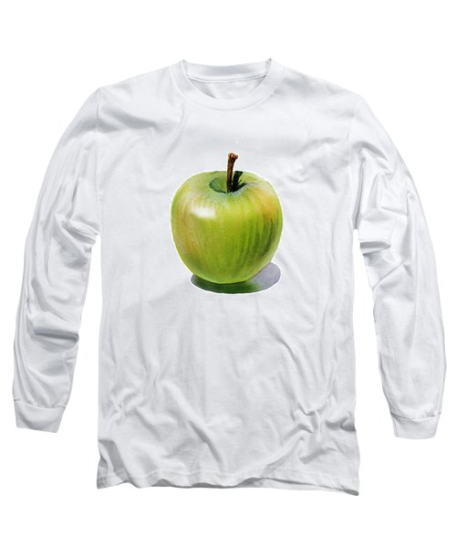 Juicy Green Apple Long Sleeve T-Shirt by Irina Sztukowski
