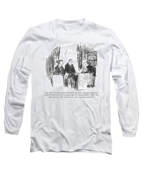 July, 1967.  An Antiques Fair In Peekskill, New Long Sleeve T-Shirt