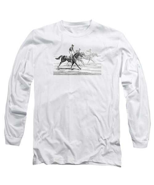 Just Finished - Horse Racing Print Long Sleeve T-Shirt